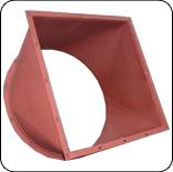 Переход с прямоугольного сечения на круглое сечение (сварной)